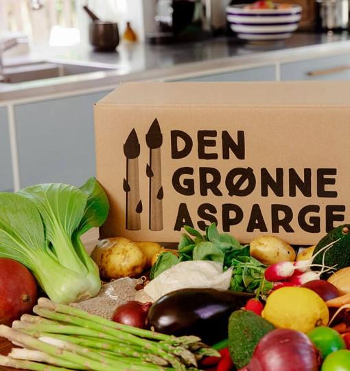 sunde måltidskasser grønne asparges